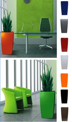 colorful modern planters for patio, pool, interior and outdoor decorating