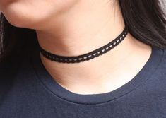 Thin Black Lace Choker, Simple Choker Necklace, Choker for womens, Cute Choker, Delicate Choker, Dainty Choker, Everyday Necklace ※ Configuration : Lace Choker ※ Length : 11.8inch   2inch(chain) = 13.8inch (30cm 5cm=35cm) ※ Materials : Black Lace, Gold Plated Clasp ※ Basic Choker <Shipping Information> USA : 6~10days Ohter Countries : 10~20days Thank you so much!! Jikum Outfits, Outfit Ideas, Outfit Accessories, Cute Acc