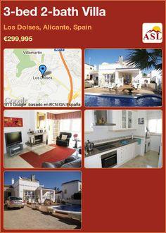 3-bed 2-bath Villa in Los Dolses, Alicante, Spain ►€299,995 #PropertyForSaleInSpain