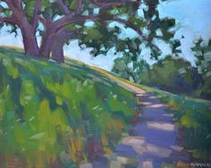 Carol Marine's Painting a Day: Winding Uphill
