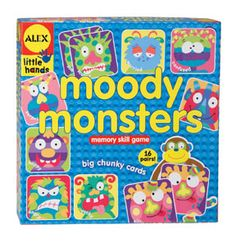 This game is great for teaching children about feelings, different ways we show feelings through our facial expressions, etc. Alex Toys Moody Monsters Memory Game, Alex Little Hands Series Feelings Activities, Counseling Activities, Therapy Activities, Therapy Ideas, Play Therapy, School Counseling, Speech Therapy, Vision Therapy, Occupational Therapy