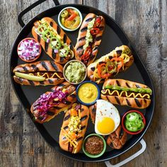 The only thing better than grilling a bunch of hotdogs, would be having a group of hungry friends & family gathered round to eat them! 🌭🌭🌭 How would you top your hotdog? Mustard, ketchup, relish, guacamole, salsa, hot sauce, hot peppers, jalapeños, corn, slaw, spicy pickles, onions or an egg? Me: jalapeños, hot peppers, spicy pickles, onions, hot sauce & spicy mustard) Elaine: mustard, ketchup, hot peppers #HotDogs
