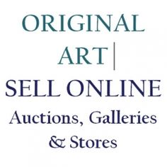 Online galleries offer to help you sell your ORIGINAL ART - but do they actually work? Which is the best and which gets the most traffic? Artwork Online, Love Art, Online Art Gallery, Just Love, Original Art, Galleries, The Originals, Art Websites, Artists