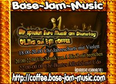 Wir tanzen mit Euch am Dienstag den Tag lang mit Spaß auf http://coffee.base-jam-music.com
