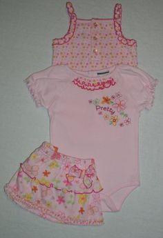 Babyworks Baby Girls 3 Piece Set Pink Floral « Clothing Impulse