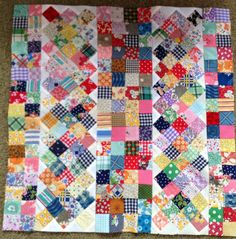 """This is a 17"""" square quilt fromSmall Quilts and Doll Quilts, I think it would be a great large quilt, too."""