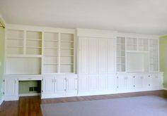 built in entertainment center and desk | Built-in wall system-with murphy bed, desk and entertainment center