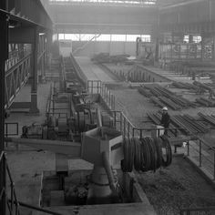 size: Photographic Print: Overview of the Bar Mill at the Brightside Foundry, Sheffield, South Yorkshire, 1964 by Michael Walters : The Brightside, Sheffield Steel, South Yorkshire, My Town, Ancestry, Framed Artwork, Metal Working, Roots, Old Things