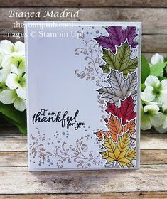 Fall Leaves Card - Using The Stampin Blends blog post and video from The Stampin B. www.thestampinb.com