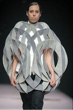 Architectural Fashion- Alexandra Verschueren, 2009. WHO WOULD WEAR THIS?!?!