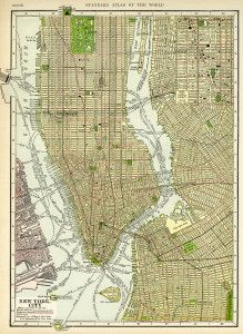 antique map image, free vintage ephemera, new york city map, old map to download