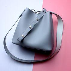 wholesale 2017 newest Korean bucket bag genuine leather shoulder bags tote handbag for ladies