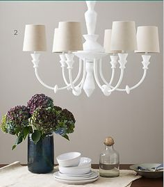 Painted chandelier via March 2013 - Lonny Magazine - Lonny