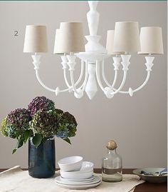 Painted chandelier via March 2013 - Lonny Magazine - Lonny