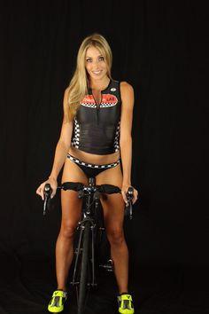 "Tri LAB Racing Team - Ambassador Jenny Alter. Tri LAB ""RacerX"" zippered top and race bottoms. #trilab #trilabgear #triathlete #triathlon #swim #swimming #swimbikerun #womens #swimsuit"