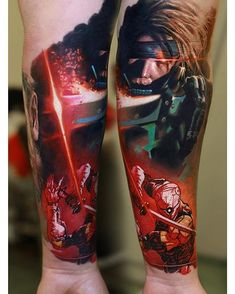 solid Revolver Ocelot, Gear Tattoo, Video Game Tattoos, Gaming Tattoo, Metal Gear Solid, Beauty And The Beast, Gears, Body Art, Piercings