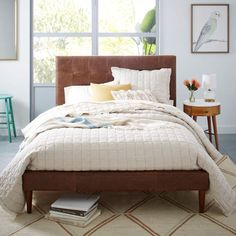 Mid Century Bedodern Upholstered Beds