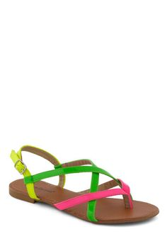 size 40 bbd9c 3179b ModCloth neon sandals Neon Sandals, Shoes Sandals, White Keds, Pointed  Heels, Red