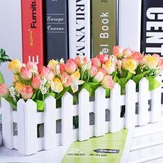 """11.8 """"l * 5.1"""" h country stílusú többszínű tulipán fehér kerítés (vegyes színek) 2417801 2016 – £8.39"""