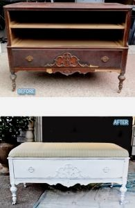 Before/After DIY   Repurposing Old Furniture ~ dresser to shabby chic coffee table image by Better After. Before/After Photo Gallery Images by various sources. BDG blogger Lori.