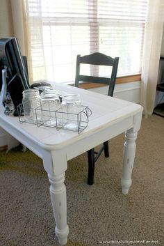 DIY Desk {coffee table turned office desk}