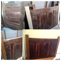 Old broken cabinet side, upcycled into a beautiful headboard. Follow me at www.cutmarks.co.uk