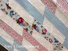 Ribbons Lap Quilt by TracykCustomSewing on Etsy