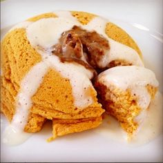 Ripped Recipes - Cinnamon Roll Pumpkin Mugcake - nothing better to start off fall than a fluffy pumpkin mug cake topped with @gbutterofficial cinnamon roll high protein spread!