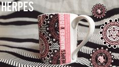 The Retroviral collection.  Six mugs featuring illustrations of viruses. For design nerds, science geeks and tea & coffee lovers! Hand decorated in Stoke-On-Trent.
