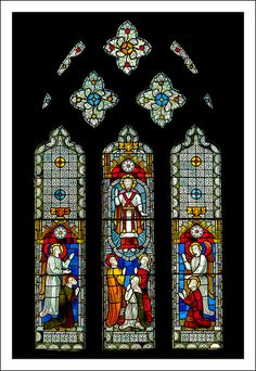 Stained Glass Window from St. Mary's Church, a parish church located in Brighstone,  Isle of Wight