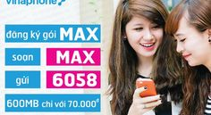 Đăng ký 3G vinaphone gói MAX trọn gói - Gói mimax vina