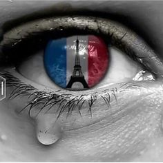 Tears for Paris. Pray for Paris. String of Terrorist Attacks leaves 120 dead. Pray For Paris, I Love Paris, Belle France, Fat Joe, Pics Art, No Photoshop, Big Sean, Tour Eiffel, Color Splash