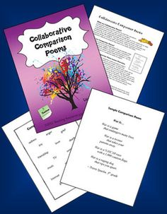 FREE Collaborative Comparison Poems from Laura Candler's Teaching Resources on TpT - Students work in teams to write poems as extended metaphors or similes - complete directions and a sample poem included Teaching Poetry, Teaching Language Arts, Teaching Writing, Teaching Resources, Teaching English, Teaching Ideas, Poetry Unit, Writing Poetry, Classroom Freebies