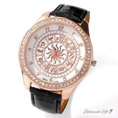 Damen Armbanduhr ASTRO Sternzeichen mit Zirkonias Armband...