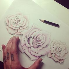 Realistic roses tattoo design