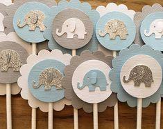 12 Elephant Cupcake Toppers Elephant Cake Topper Elephant