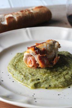Ricetta Involtini di pollo su purè ai piselli | Cirio