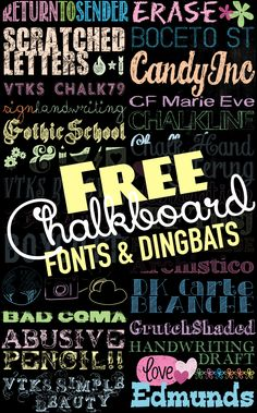 Tons of Free Chalkboard Fonts and Dingbats! - U Create