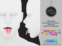 Best Screen two Tongue Piercings Popular This information is primarily based on my small personalized experience of getting my tongue pierced, plus it Sims 4 Body Mods, Sims 4 Game Mods, Sims 4 Cas, Sims Cc, Innenohr Piercing, Tongue Piercings, Maxis, Sims 4 Piercings, Piercing Bouche