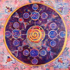 """[Blog Post] """"The Law of Action"""" - Mandala # 3 in a series on the 12 Universal Laws in the Enter the Mandala Project. Read all about the intuitive and creative process behind this painting in my blog at http://www.dominiquehurley.com/journey-into-the-law-of-action-enter-the-mandala/"""
