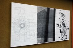 """Ficciones Typografika 052-054 (24""""x36""""). Installed on August 15, 2013. Very pleased to feature (from left to right), Reza Abedini (2013), Andreas Kuhn (2013), and Bircan Ak (2013). More: http://ficciones-typografika.tumblr.com/"""