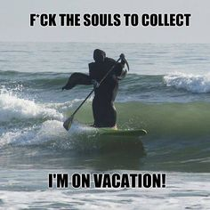 Image result for grim reaper on holiday
