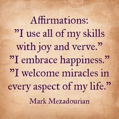 What are you welcoming into your life?