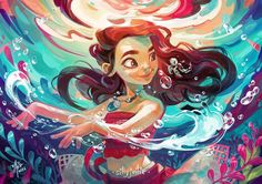 "2,246 Likes, 43 Comments - Ellie Yong (@elliethopia) on Instagram: """"The ocean is a friend of mine"". Moana fan art! Comic fiesta this weekend! I'll be there! Will you!…"""