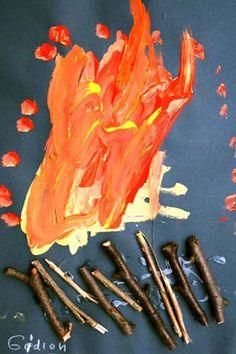 Stöcke und Farben => Feuer