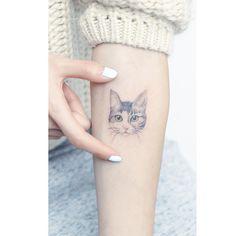 Fat Cat Tattoo, Meow Tattoo, Cat Face Tattoos, Kitten Tattoo, Tattoo On, Hair Tattoos, Wolf Tattoos, Mini Tattoos, Cute Tattoos