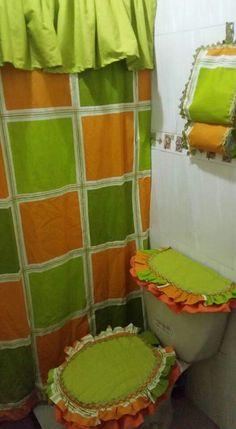 Bathroom Sets, Master Bathroom, Toilet Decoration, Vanities, Geo, Ideas Para, Sewing Patterns, Curtains, Design