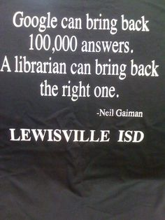 Librarians beat Google!