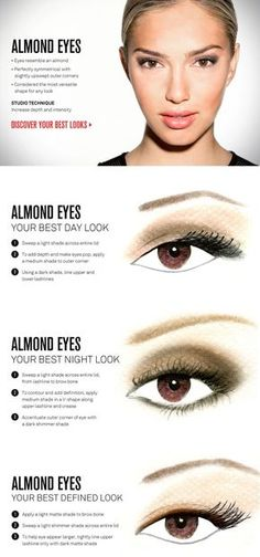 Almond Shaped Eyes and how to Line Them To Make Them Look Different for Different Styles & Occasions