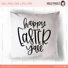 Happy Easter Yall SVG Easter Designs with Easter by HollyPixels Happy Easter Yall! This Easter SVG features a design near to the heart of the southern woman, and brush lettering with the quote: Happy Easter Yall. SVG Easter Designs can be used with your Silhouette Cameo or Cricut machines to craft super cute Easter goodies. This design features hand lettering that cant be found anywhere else and looks super cute on anything you put it on. Use this SVG file for t-shirts, totes, pillows, and…